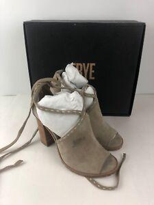 FRYE Suede Suzie Pickstitch Lug Heeled Sandal, Ash, 9.5 M US Ankle Boot Bootie