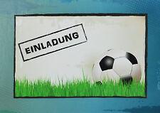 Einladungskarten Kindergeburtstag   Fußball   Einladung   FUSSBALL   Junge