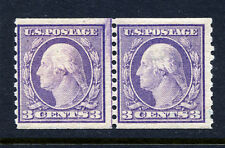 Bigjake: #493, 3 cent Lincoln Line Pair, Mint Never Hinged, CV: $230.00