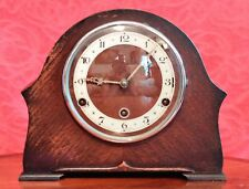 Vintage Art Deco British 8-Day Mantel Clock with Westminster Chimes