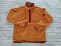 VTG 2002 Patagonia Synchilla Men's 1/2 Zip Pullover Fleece Sweater Yellow L/XL