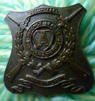 Defence League Dulwich & District Volunteer Badge Bronze  2 Lugs ANTIQUE