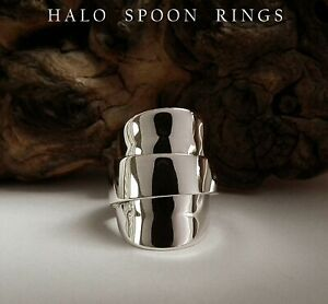 STUNNING INVERTED NORWEGIAN SOLID SILVER SPOON RING c1960 LAST ONE AVAILABLE!!