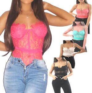 M91 New lace bodysuit Women Ladies cami top bodysuit size 08 10 12 14