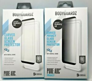 BodyGuardz Pure Arc  OR PRIVACY GLASS Samsung Galaxy S9 Curved Tempered Glass