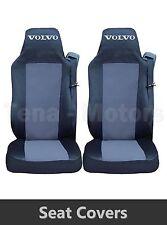 2 x VOLVO FH12 FH16 FL FM Coprisedili Su misura HGV Camion Furgone Nero / Grigio