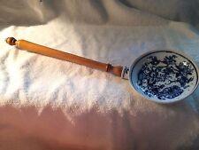 Vintage Meissen Porcelain Blue Onion Kitchen Utensil Long Handled Strainer
