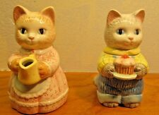 cat figurines sugar and creamer set