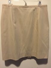 Banana Republic Women's Khaki Tan Zip Back Pencil Skirt Career Lined Size 6