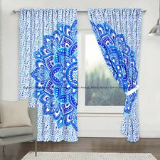 Indian Flower Mandala Cotton Drapes Hanging Home Window Treatment Door Curtains@