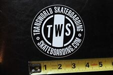 TWS Transworld Skate Video Skateboard MISC SKATE Vintage Skateboarding STICKER