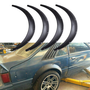"""For Ford Mustang Foxbody 78-93 4PCS Fender Flares Arch Extra Wide Body Kit 4.5"""""""