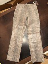 Brandon Thomas Women's Leather Brown Snake Skin Print pants - Size 11