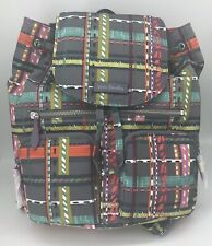 VERA BRADLEY Midtown Cargo Backpack City Plaid Book Bag 22328-H63 NWT