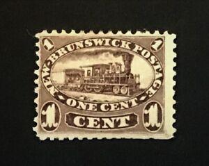 NEW BRUNSWICK 1860 1c. brown-purple MH no gum CV £80