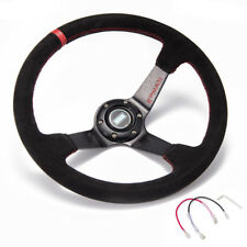 "Car 350mm 3.5"" Deep Dish Drift Universal Racing Steering Wheels With Horn Button"