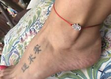 For Ankle Silver Hamsa Hand Red STRING KABBALAH LUCKY BRACELET