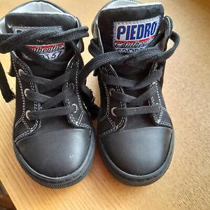 Piedro Orthopaedic Boots Leather Black Rehabilitation Lace Up Size EU 23 - UK 4-