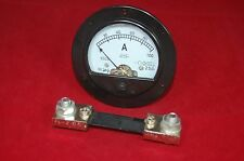 DC 0-100A Round Analog Ammeter Panel AMP Current Meter Dia. 90mm with shunt