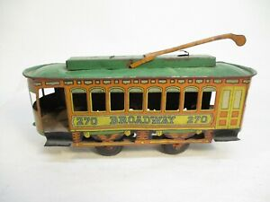Chein Broadway 270 Trolley Litho Floor Toy O Gauge X6729