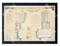 Historic Victorian Twyford's Showers Advertising Postcard