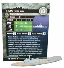 "Axis and Allies War at Sea ""Fleet Command"" HMS Gotland (38/39) Game Piece & Card"