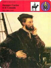 FICHE CARD Jacques Cartier & le Canada 1491-1557 par Lemoine Peintre France 90s