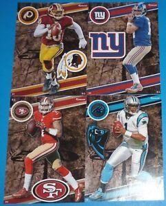 2014 NFL FATHEAD TRADEABLES 4 Cam Newton Eli Manning Johnny Manziel RC Colin
