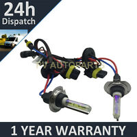 2X BULBS FOR AFTER MARKET HID CONVERSION KIT XENON 3000K YELLOW 55W PLUG IN