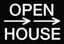 """10 12x18 Corrugated Plastic """"Open House"""" Sign With Wire Stake (2 Sided Black)"""