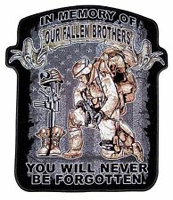 In Memory Of Our Fallen Brothers Patriotic Military Biker Patch Large