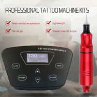 Complete Tattoo Machine Kit Rotary Pen Tattoo power Supply For Liner  Shader