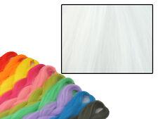 CYBERLOXSHOP PHANTASIA KANEKALON JUMBO BRAID PURE WHITE HAIR DREADS