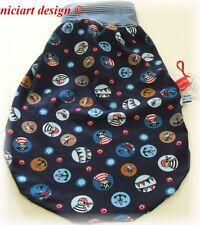 Niciart ♥ pucksack ♥ bebé saco de dormir ♥ piratas azul ♥ BW Jersey & Molton o jersey ♥