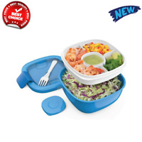 Bentgo Salad BPA-Free Lunch Container with Large 54-oz Salad Bowl, 4-Compartment