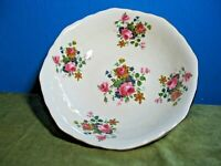 LARGE MARYLEIGH POTTERY BOWL, ROSE PATTERN .