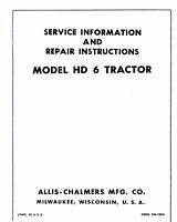 ALLIS CHALMERS HD6 HD-6 Crawler Tractor Service Manual