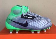 Nike Women's Magista Obra II FG Soccer Cleats Grey Green 844205-053 Size 8.5