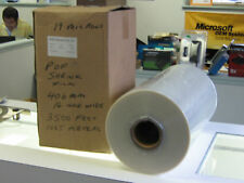 "18"" inch 457mm Wide POF 19 MICRON SHRINK WRAP FILM 1000 METER ROLL 75 GAUGE"