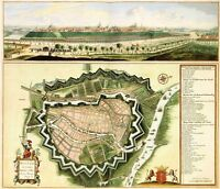 Reproduction Antique Old Map City of Gdansk Poland Danzig City Plan New Poster