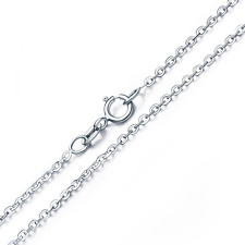 """Elegant New Italy 925 Sterling Silver O-Chain 18"""" 1.0mm Stamped .925 Necklace"""