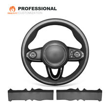 Leather Suede Steering Wheel Cover for Mini Clubman Convertible (with Bulges)