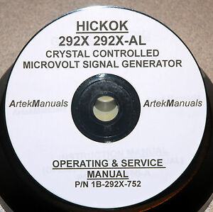 Hickok Manual, Operating, Service, Schematics for 292X Xtal Controlled Generator