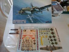 MESSERSCHMITT BF110 C/D 1/48 SCALE FUJIMI MODEL+SUPERDECALS+PHOTOETCHED PARTS