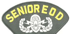"SENIOR EOD EXPLOSIVE BOMB SQUAD 5"" EMBROIDERED MILITARY PATCH"