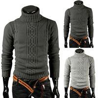 2018 New Men Winter Warm Turtleneck Fit Pullover Sweater Turtleneck Knitwear
