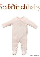 Fox & Finch Baby Girls' Florence Romper - Angel Pink 3 Months