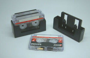 Philips 0005 Mini Cassettes 30 Minutes [Pack of 3 Cassettes] - New + Holder