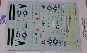 Microscale Decal 1:72 Scale #72-813 / A-4E Skyhawks: VA-152 & VA-94