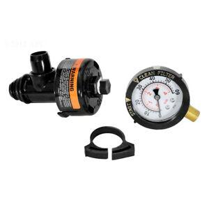 Pentair Clean & Clear/FNS/Predator Air Relief Valve Replacement w/Gauge 98209800